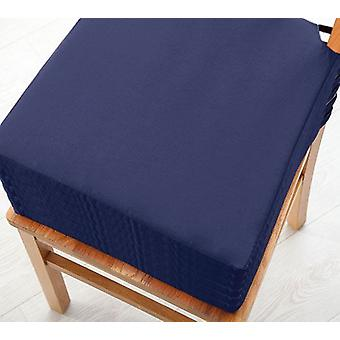 Changing Sofas Navy Blue Cotton Twill Dining Chair Seat Pad Cushion, Pack of 6