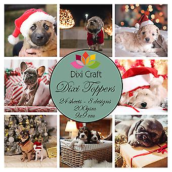 Dixi Craft Christmas Dogs 9x9cm Toppers
