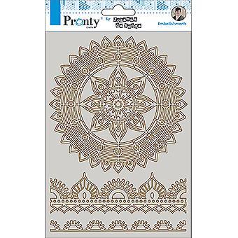 Pronty Crafts Mandala & Borders 2 A5 Chipboard