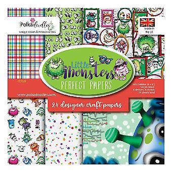Polkadoodles Little Monsters 6x6 Inch Paper Pack