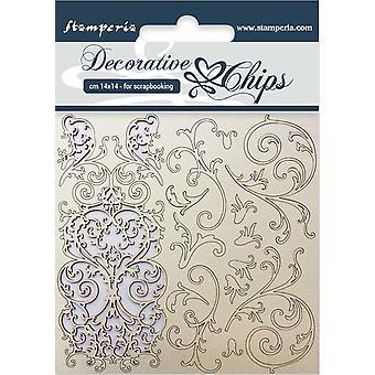 Stamperia dekorative Chips Wandteppich