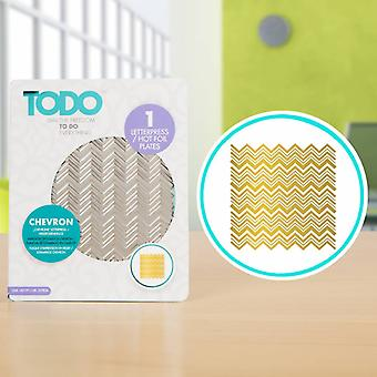 TODO Hot Foil Press Texture Chevron
