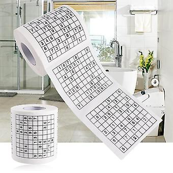 1 Roll 2 Ply Number Sudoku Printed Wc Bath Funny Toilet Tissue Bathroom