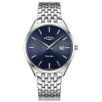Rotary Ultra Slim Silver Blue Dial GB08010/05 Watch