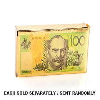 Gold Foil Aussie $100 Playing Cards