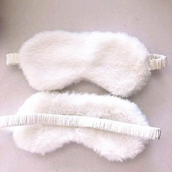 Măști de ochi soft plush Silk Love Cloud Eye Cover, Rabbit Pluș Sleeping Mask