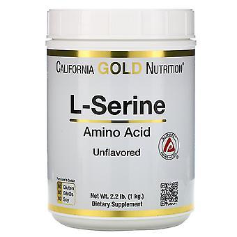 California Gold Nutrition, L-Serine, AjiPure, Unflavored Powder, 2.2 lb (1 kg)