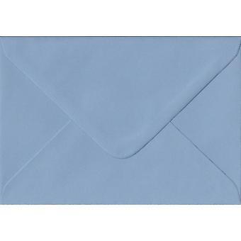 ويدجوود هدية الشمعي الأزرق/مكان بطاقة اللون الأزرق المغلفات. 100gsm ورقة مجلس رعاية الغابات المستدامة. 70 مم × 110 ملم. بانكر نمط المغلف.