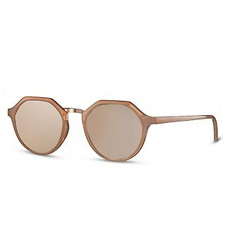Sunglasses Women's Panto Cat.3 Pink/Brown (CWI2526)
