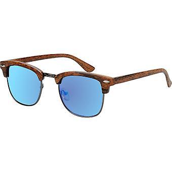 Sunglasses Unisex with mirror edher light brown (AZ-17-110)
