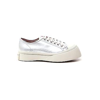 Marni Snzw003020p376500n20 Dames's Silver Leather Sneakers
