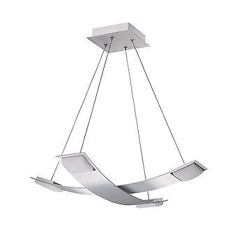 Wisiorek sufitowy 4 Lekki 28W LED 3000K, 2520lm, Satynowy aluminium, akryl matowy