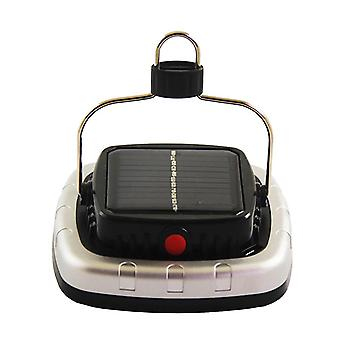 Portable Cob Solar Led, Usb Flashlight Rechargeable Battery