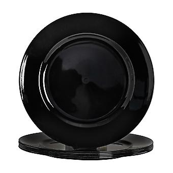 Argon Tableware Round Charger Under Plates in Black - 330mm - Pack of 6