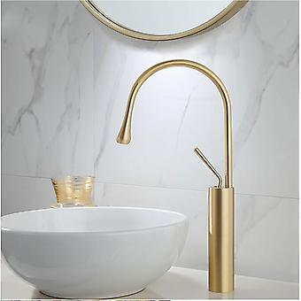 Basin Faucet- Single Lever 360 Rotation Spout Moder Brass Mixer Tap For Kitchen