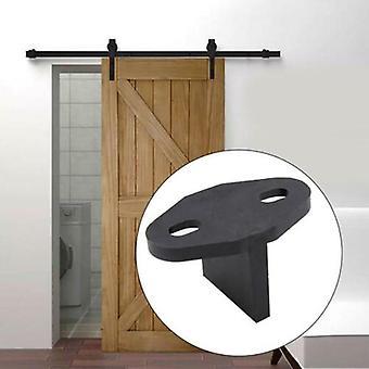 Adjustable Black Sliding Barn Door Gate Bottom -t Shape Floor Guide