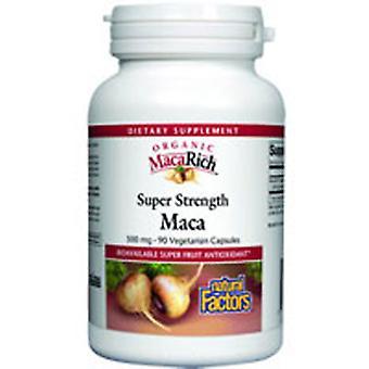 العوامل الطبيعية MacaRich سوبر قوة ماكا مع الجينسنغ، 500 ملغ، 90 قبعات الخضار