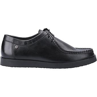 Hush Puppies Will Wallabee Mens Leather Shoes Black
