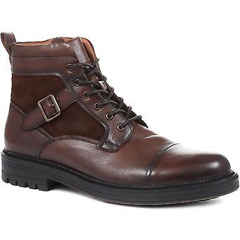 Jones Bootmaker Mens Kyoto Leather Hiker Boots