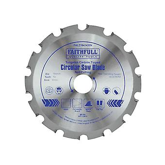 Faithfull Kreissäge 184 x 30mm x 14T Nagelschneiden NEG FAIZ1841430N