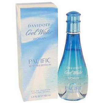 المياه الباردة المحيط الهادئ الصيف بواسطة Davidoff Eau De Toilette رذاذ 3.4 أوقية (نساء) V728-536018