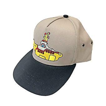 The Beatles Baseball Cap Yellow Submarine Band Logo Virallinen Sand Snapback