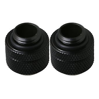 2PCS Mosiężna kompresowanie chłodzenia wodą do rury silikonowej 8 x12mm