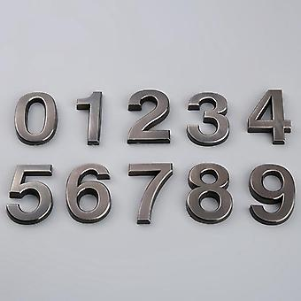 Grå Self Adhesive Numeral Door Plaque House Tegn Plating - Gate cifre 0 til 9