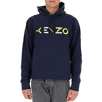 Kenzo Fa65sw3044mo76 Felpa uomo in cotone blu