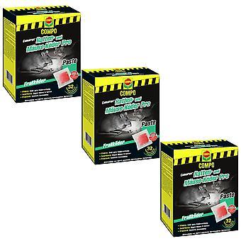 Sparset: 3 x COMPO Cumarax® Ratten- und Mäuse-Köder Pro, 480 g