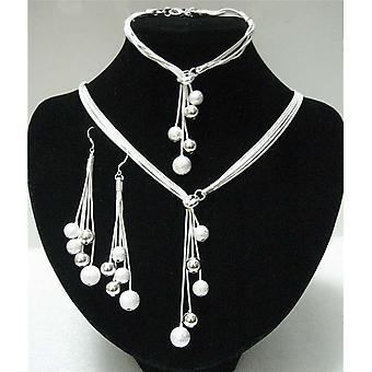 عالية الجودة خمسة أسلاك الخرز السيدات جديد حفل مجوهرات الزفاف ثلاث قطع