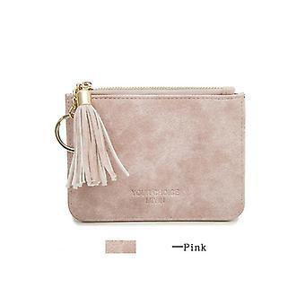 mynt vesken skinn kvinner kort glidelås dusk student søt mini bag liten lommebok