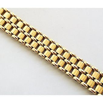 Geel gouden 14 karaat schakelarmband