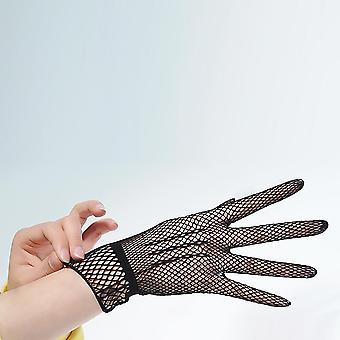 Mănuși de conducere de vară uv-proof Mesh Fishnet Mănuși, Nylon Mesh Solid Thin