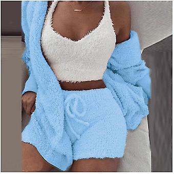 Pigiama Donna Caldo Sonno Abbigliamento Morbido Cotone Set Accessori abbigliamento