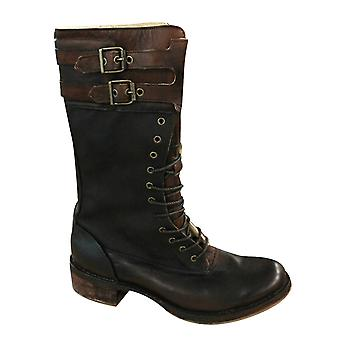 Timberland Womens Canvas Brown Leather Lace Up Buckle Calf Boots 67626 Z55B