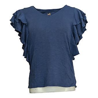 بيل من قبل كيم الحصى المرأة & ق أعلى Flexwear Petite قصيرة Slv الأزرق A378618