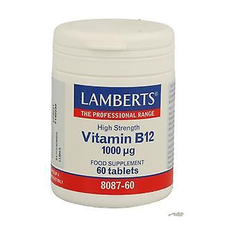 B12 60-vitamiinia 1000mg tablettia