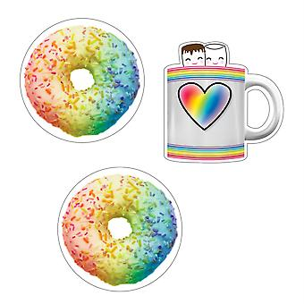 Industrial Cafe Donuts And Cocoa Mugs Cut-Outs, 36 Per Pack, 3 Packs