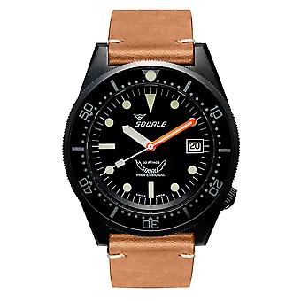 Squale 1521PVD.PC 500 Meter Swiss Automatic Dive Wristwatch Leather