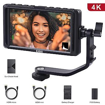 Esddi f5 camera monitor 5 inch full hd ips screen video field monitor support 4k hdmi input 1920 x 1