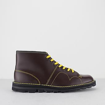 Grafters Unisex Original Leather Monkey Boots Vin