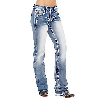 High Waist Wide Legfriend Denim Skinny Vintage Flare Jeans Pant