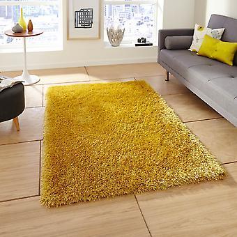 Monte Carlo handgemaakte Shaggy tapijten In geel