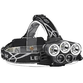 XANES 2309-A Bicycle Headlight 6 Switch Modes T6 + 2 x LTS White Light Outdoor Sports HeadLamp