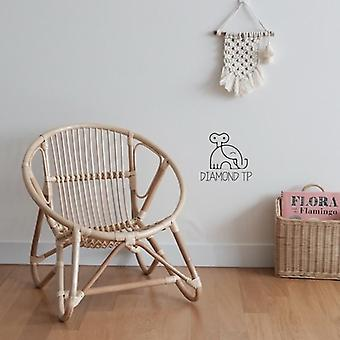Children's Rattan Chair, Room Decoration Toddler Chairs Pure Hand  Kids