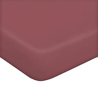 Blatt mit Ecken zwei rosa Baumwolle Farbe, L170xP195 cm