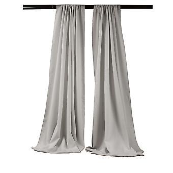 La Leinen Pack-2 Polyester Poplin Hintergrund Drape 96-Zoll breit von 58-Zoll hoch, hellgrau