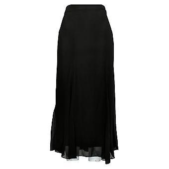 Antthony Skirt Chiffon Overlay Printed Gore Skirt Black 735-483