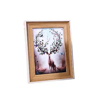 Wall-mounted set-up photo frame, free standing or wall hanging, desktop decoration